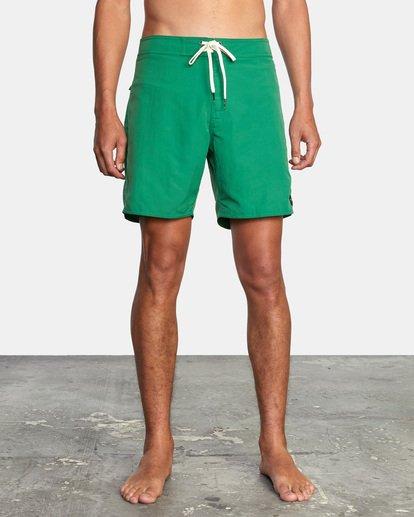 "1 Stanton Boardshorts 17"" Green AVYBS00145 RVCA"