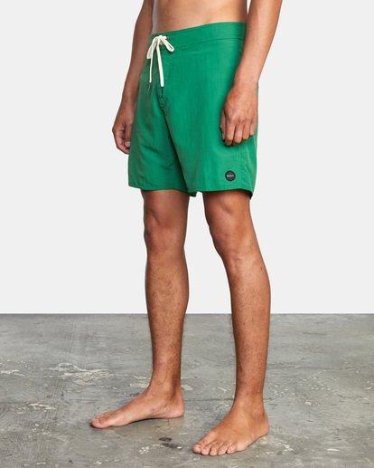 "3 Stanton Boardshorts 17"" Green AVYBS00145 RVCA"