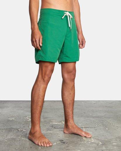 "4 Stanton Boardshorts 17"" Green AVYBS00145 RVCA"