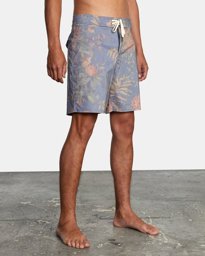 """5 Painted Valley Boardshorts 18"""" Blue AVYBS00152 RVCA"""