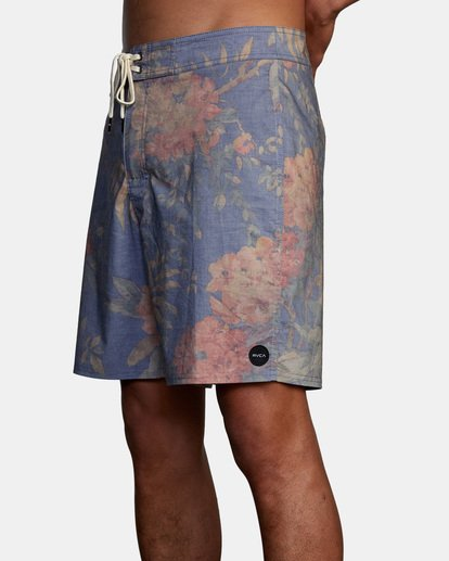 """7 Painted Valley Boardshorts 18"""" Blue AVYBS00152 RVCA"""
