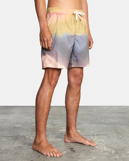 "4 Dana Trippe Trippy Elastic Boardshorts 17"" Grey AVYBS00155 RVCA"