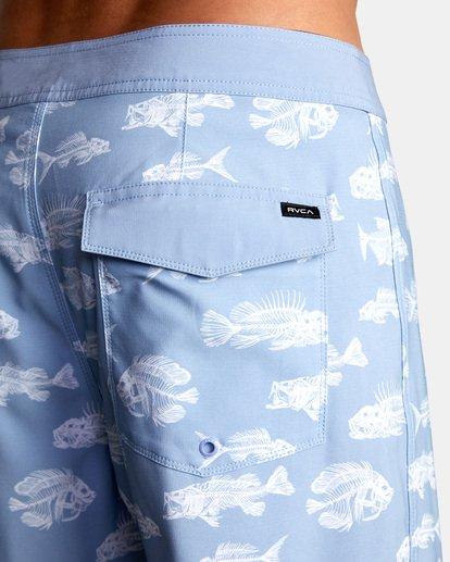 """8 Ben Horton   Fish Boardshorts 19"""" Blue AVYBS00157 RVCA"""