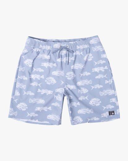 "0 Ben Horton | Fish Elastic Boardshorts 17"" Blue AVYBS00158 RVCA"