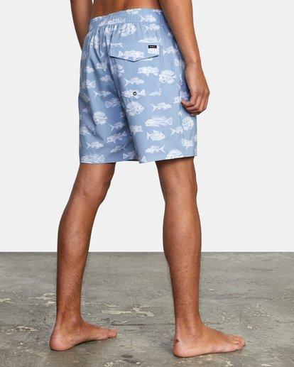 "5 Ben Horton | Fish Elastic Boardshorts 17"" Blue AVYBS00158 RVCA"
