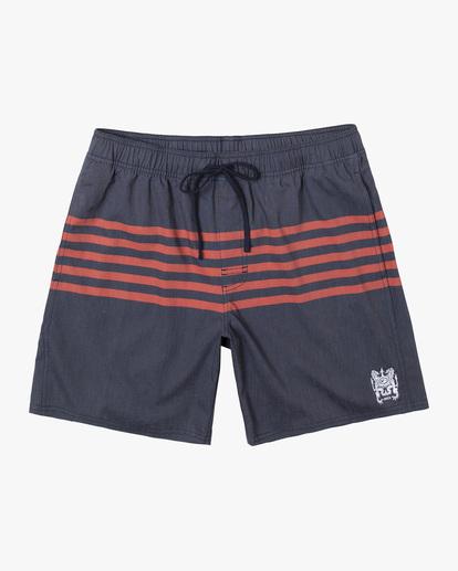 "0 Sutton Elastic Shorts 17"" Blue AVYBS00172 RVCA"