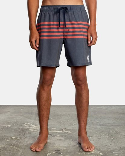 "1 Sutton Elastic Shorts 17"" Blue AVYBS00172 RVCA"