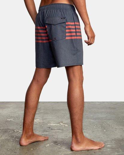 "5 Sutton Elastic Shorts 17"" Blue AVYBS00172 RVCA"