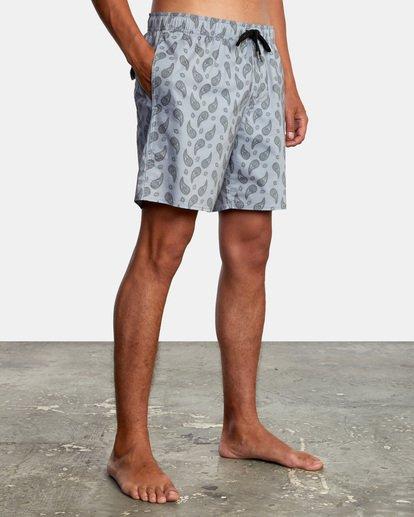"""6 Vaisley Elastic Boardshorts 17"""" Blue AVYBS00174 RVCA"""