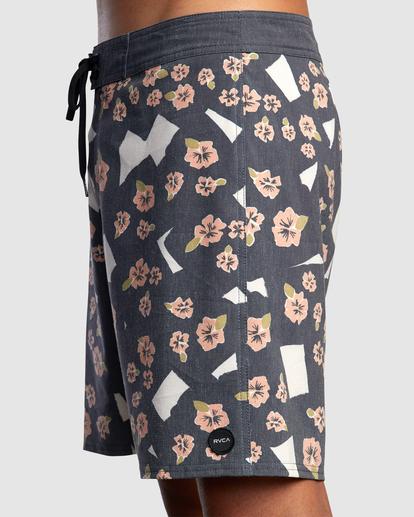 "3 Pop Flower Boardshorts 17"" Black AVYBS00181 RVCA"
