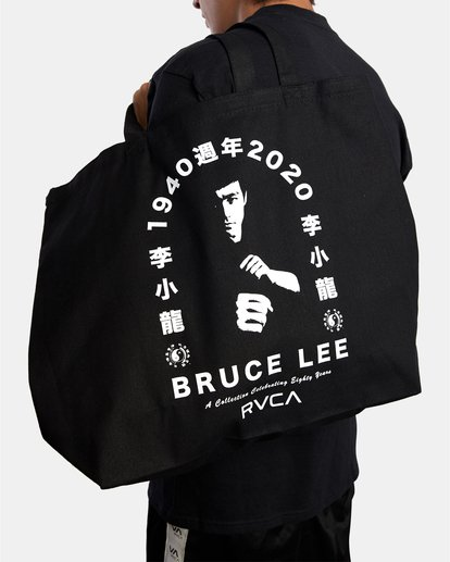 3 BRUCE LEE EIGHTY YEARS TOTE BAG Black AVYBT00108 RVCA