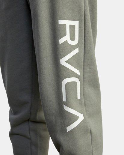 3 Big RVCA Sweatpants Green AVYFB00119 RVCA