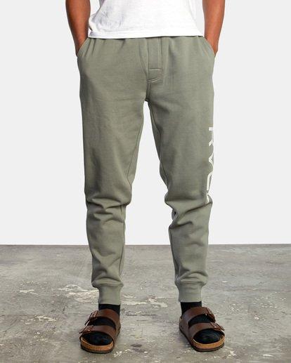 1 Big RVCA Sweatpants Green AVYFB00119 RVCA