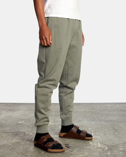 6 Big RVCA Sweatpants Green AVYFB00119 RVCA