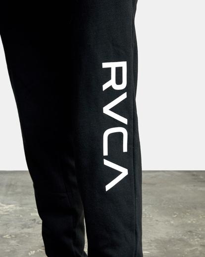 3 Big RVCA Sweatpants Black AVYFB00119 RVCA
