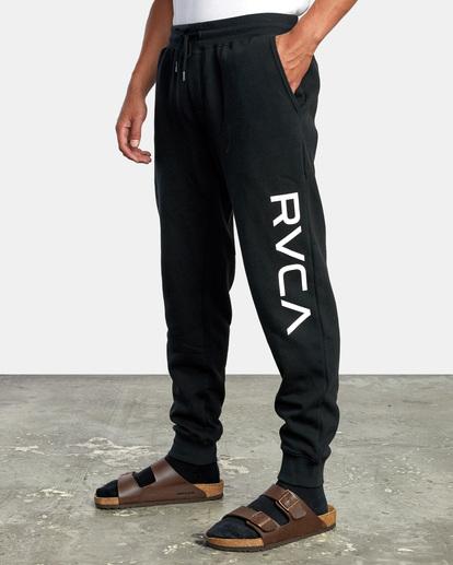 4 Big RVCA Sweatpants Black AVYFB00119 RVCA