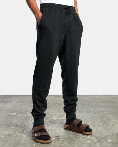6 Big RVCA Sweatpants Black AVYFB00119 RVCA
