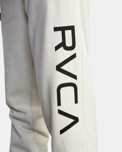 3 Big RVCA Sweatpants Silver AVYFB00119 RVCA