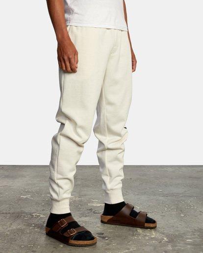 6 Big RVCA Sweatpants Silver AVYFB00119 RVCA