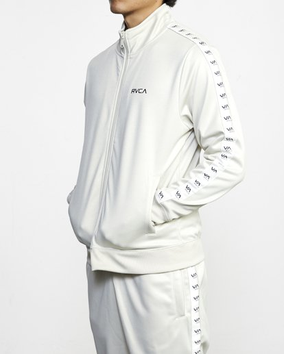 3 NORE TRACK JACKET Silver AVYFT00155 RVCA