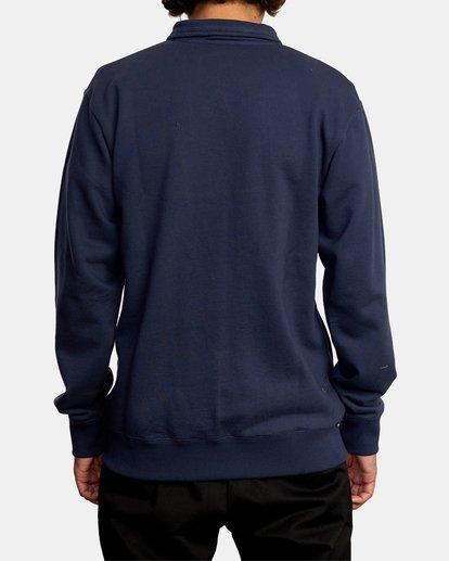 2 Keats Half-Zip Mock Neck Pullover Blue AVYFT00157 RVCA
