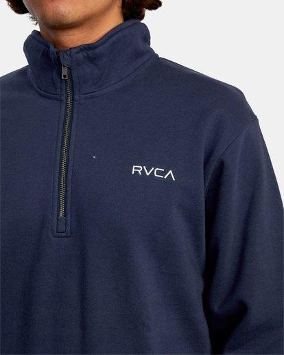3 Keats Half-Zip Mock Neck Pullover Blue AVYFT00157 RVCA