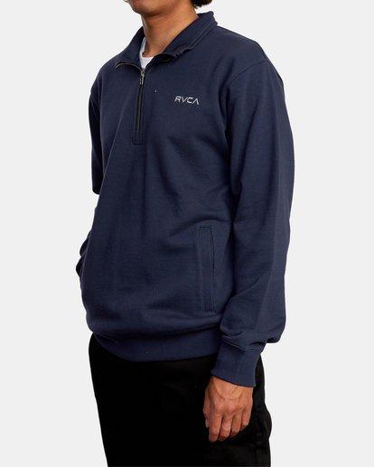 4 Keats Half-Zip Mock Neck Pullover Blue AVYFT00157 RVCA
