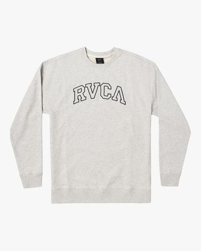 0 Hastings Emblem Crewneck Sweatshirt White AVYFT00160 RVCA