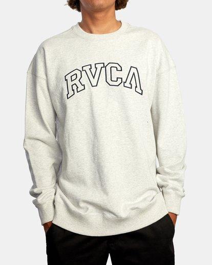 1 Hastings Emblem Crewneck Sweatshirt White AVYFT00160 RVCA