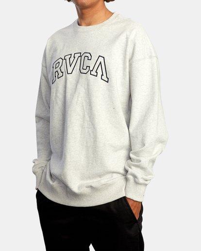 4 Hastings Emblem Crewneck Sweatshirt White AVYFT00160 RVCA