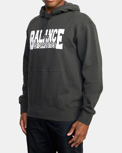 2 Balance Block Hoodie Black AVYFT00181 RVCA