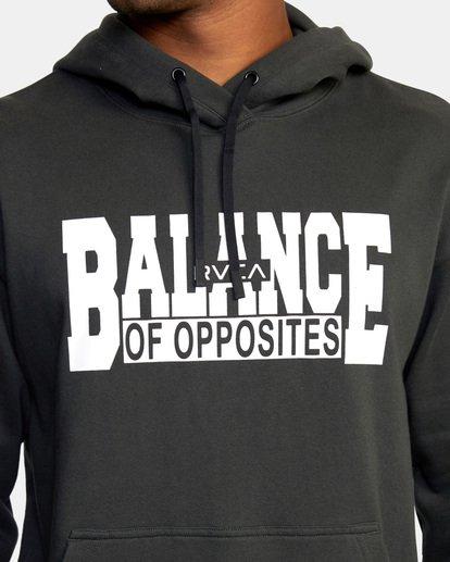 4 Balance Block Hoodie Black AVYFT00181 RVCA