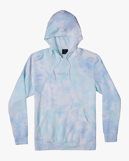 0 Tonally Tie-Dye III Pullover Hoodie Blue AVYFT00182 RVCA
