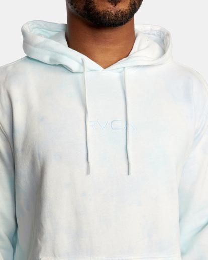 3 Tonally Tie-Dye III Pullover Hoodie Blue AVYFT00182 RVCA
