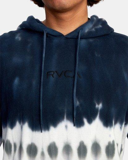 3 Tonally Tie-Dye III Pullover Hoodie Black AVYFT00182 RVCA