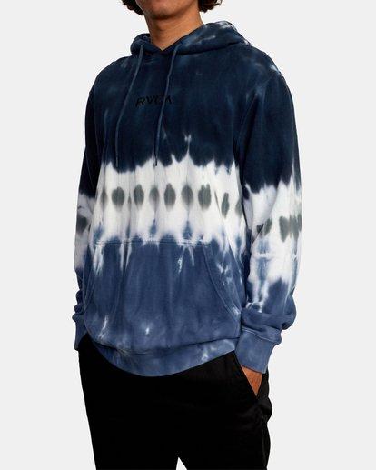 4 Tonally Tie-Dye III Pullover Hoodie Black AVYFT00182 RVCA
