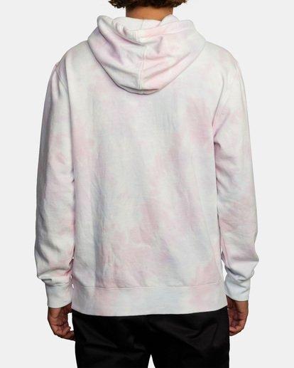 2 Tonally Tie-Dye III Pullover Hoodie White AVYFT00182 RVCA