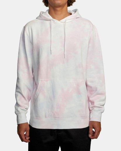 1 Tonally Tie-Dye III Pullover Hoodie White AVYFT00182 RVCA