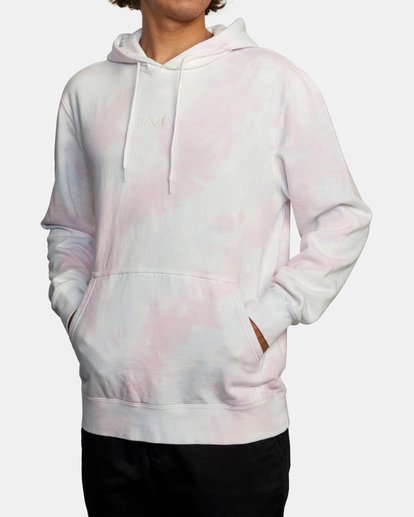 3 Tonally Tie-Dye III Pullover Hoodie White AVYFT00182 RVCA