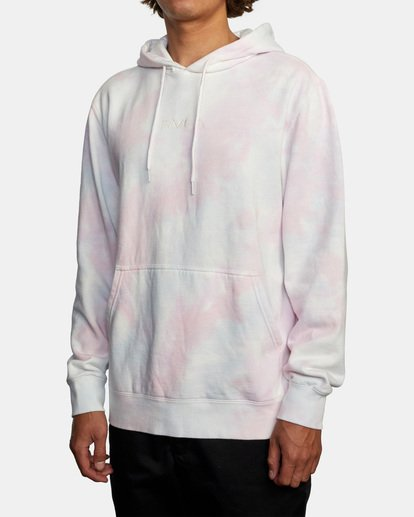 4 Tonally Tie-Dye III Pullover Hoodie White AVYFT00182 RVCA