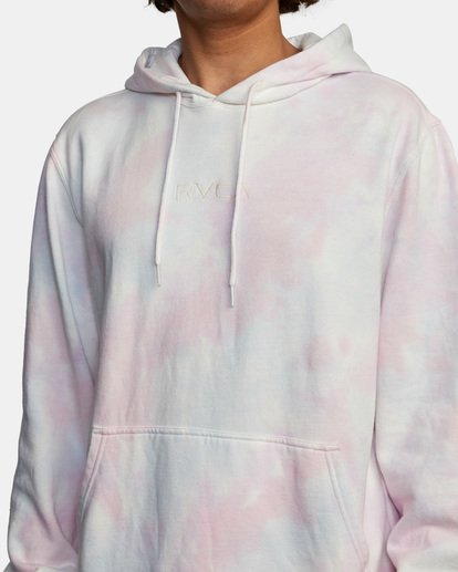 5 Tonally Tie-Dye III Pullover Hoodie White AVYFT00182 RVCA