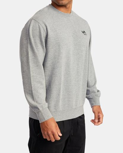 4 VA Essential Sweatshirt Grey AVYFT00192 RVCA