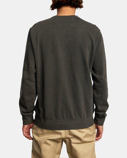 2 Cambridge Crewneck Sweatshirt Black AVYFT00194 RVCA