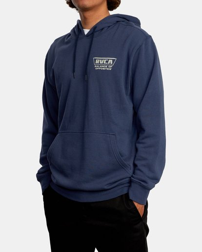 5 Clawed Hoodie Blue AVYFT00198 RVCA