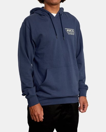 6 Clawed Hoodie Blue AVYFT00198 RVCA