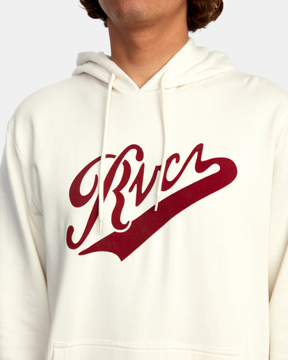 3 Pennant Pullover Hoodie Silver AVYFT00199 RVCA