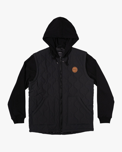 0 Grant Hooded Puffer Jacket Black AVYFT00205 RVCA