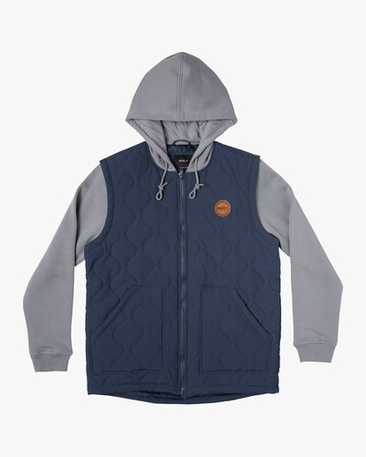 0 Grant Hooded Puffer Jacket Blue AVYFT00205 RVCA