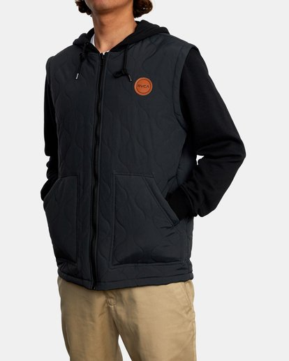 4 Grant Hooded Puffer Jacket Black AVYFT00205 RVCA