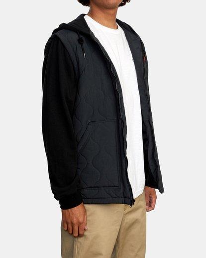 6 Grant Hooded Puffer Jacket Black AVYFT00205 RVCA